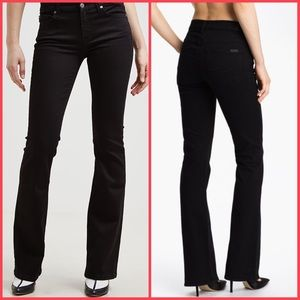 7 For All Mankind Black High-Waist Bootcut Jeans